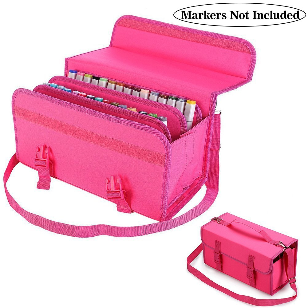 120 Slots Marker Case Lipstick Organizer--Canvas Markers Holder for for Primascolor Markers and Copic Sketch Markers promotion touchfive 80 color art marker set fatty alcoholic dual headed artist sketch markers pen student standard