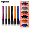 6Color Magical Halo Long Lasting Lip Gloss Matte Lip Tattoo Lipgloss Waterproof  Pigment Brand Makeup Lip Glaze Plum Color Black