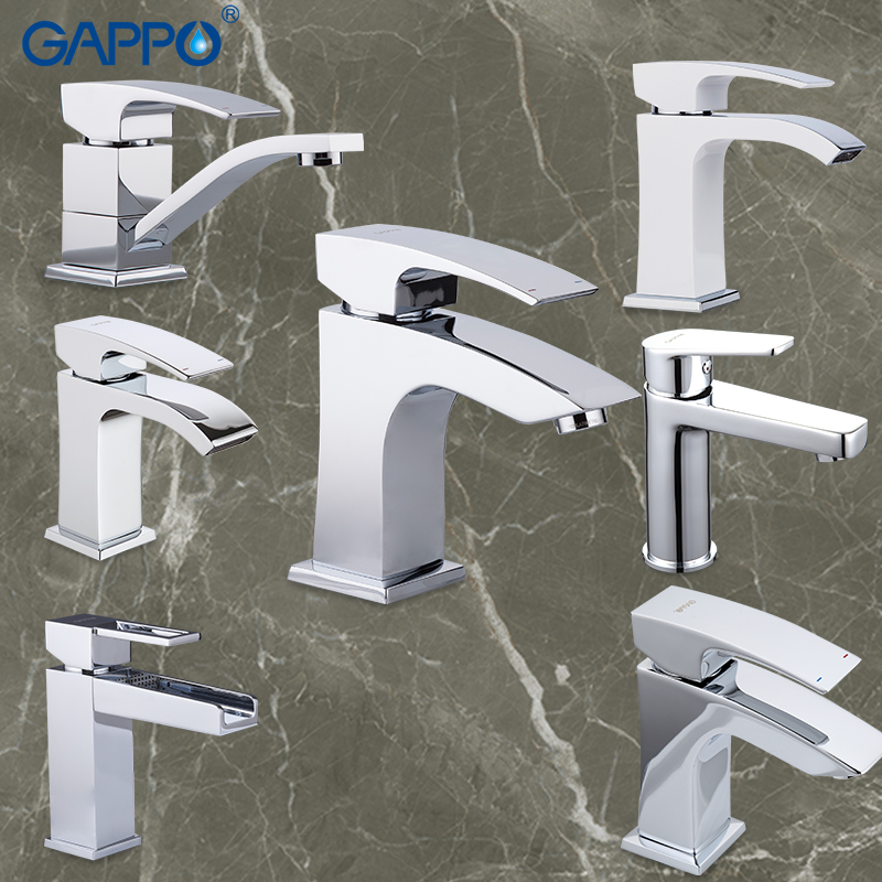 GAPPO Official Spain Brazil Warehouse basin faucet water tap bathroom mixer waterfall faucets taps wash mixer-in Basin Faucets from Home Improvement