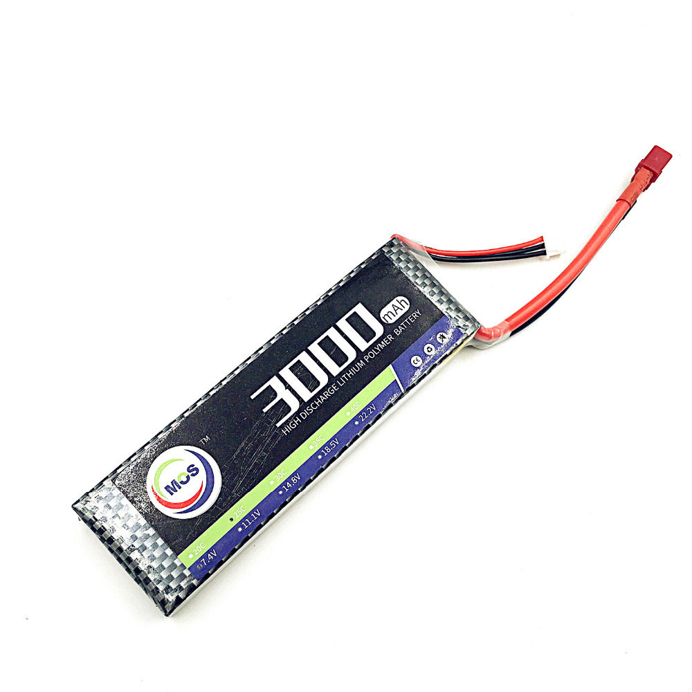 MOS RC lipo battery 3S 11.1v 3000mAh 35C For rc airplane drone helicopter car 3s Li-ion batteria AKKU 1s 2s 3s 4s 5s 6s 7s 8s lipo battery balance connector for rc model battery esc