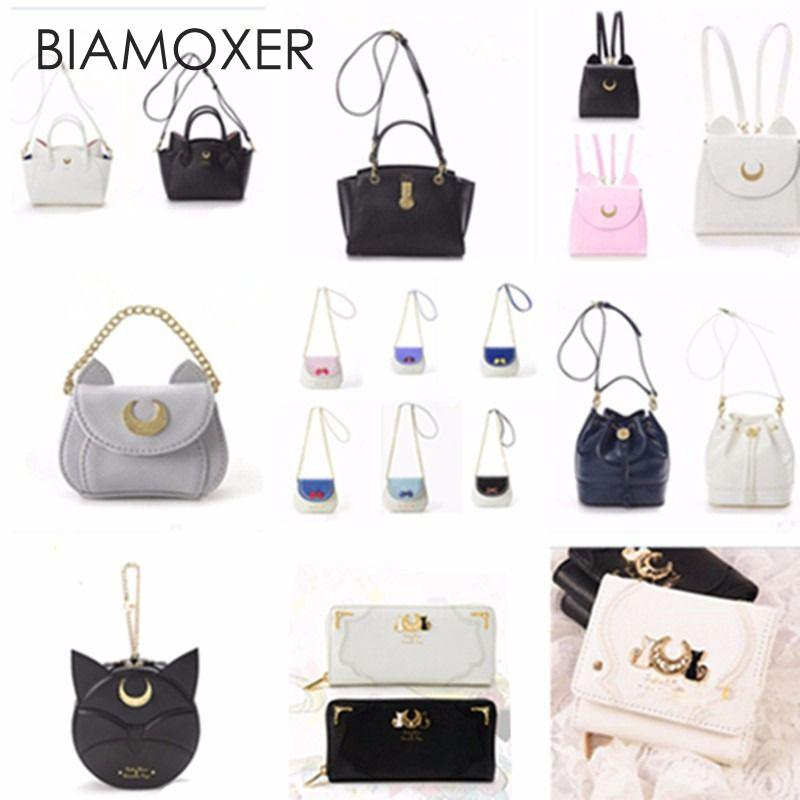 Biamoxer Anime Sailor Moon 20th Anniversary Luna Handbag Shoulder Bag Backpack Xmas Gifts