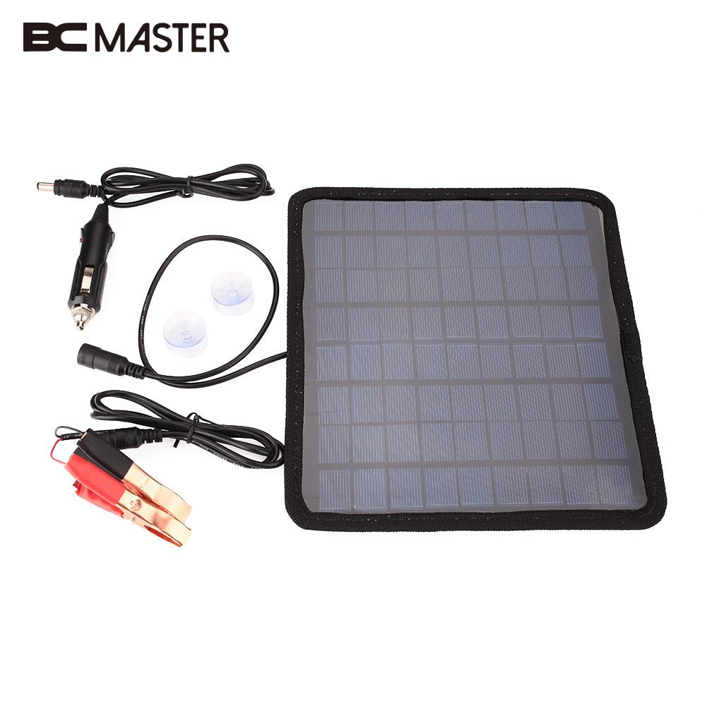 BCMaster Portable 18V 5.5W Solar Panel Bank Car Automobile Battery Solar Power Panel Charger Outdoor Camping