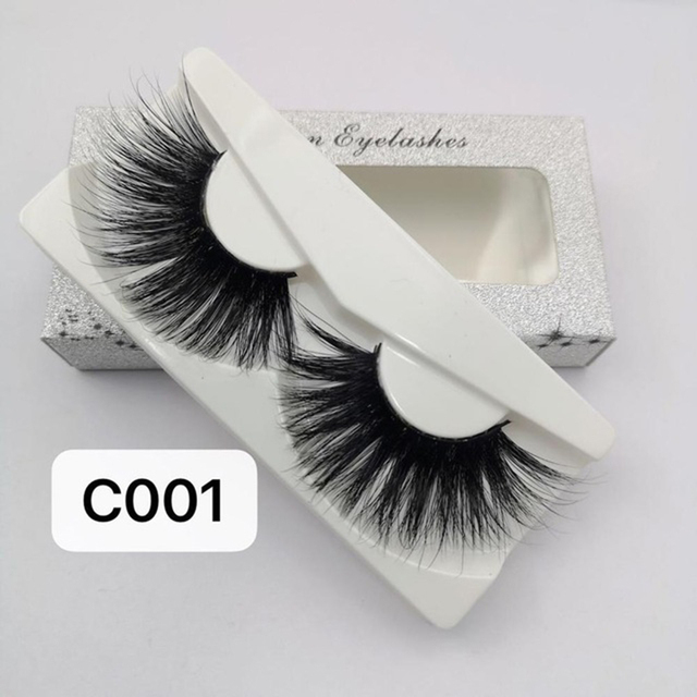1 Pair 30mm Mink Lashes 100% mink Hair False Eyelashes Wispy Fluffy Lashes Eye Makeup Tools Multilayers Handmade Natural Lashes 5