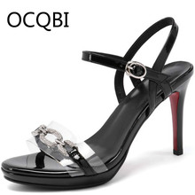 Womens High Heel Clear Sandal Shoes Summer Single Strap Sandals Casual Shoes for Women Platform Sandals Black Pink Bridals Shoes single sole clear lucite chunky heel sandals women ankle strap perspex high heel sandal plastic transparent dress sandals