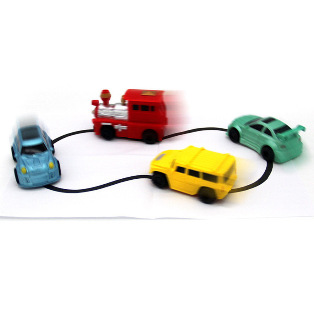1pcs Magic Pen Inductive Car Tank Truck Follow Any Drawn Black Line Track Mini Toy Engineering Vehicles Educational Toy 5