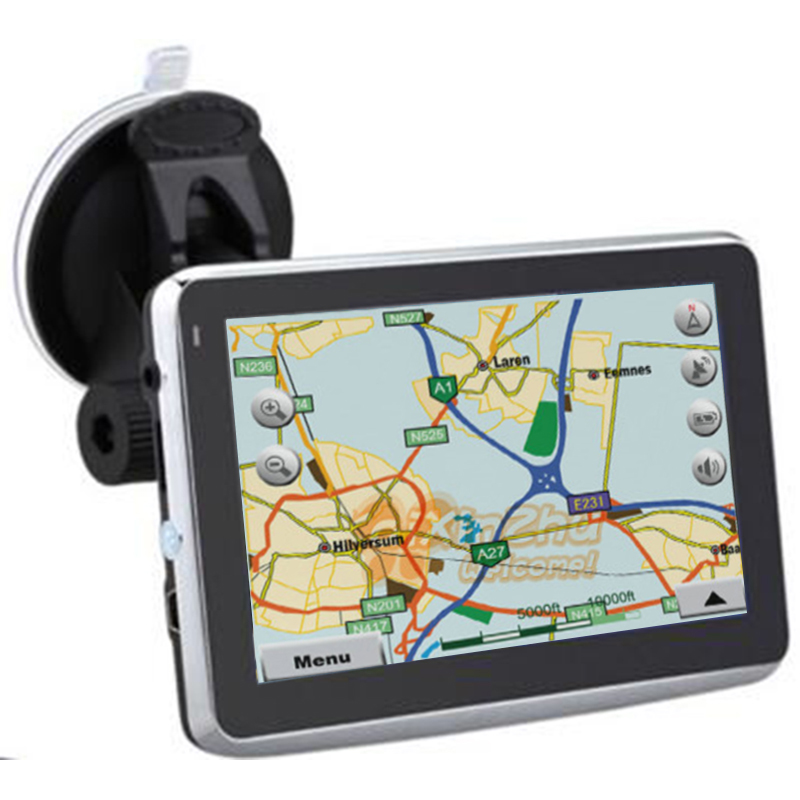 5 Inch Portable font b Car b font GPS Navigation Sat Nav Wince6 0 FM Transmitter