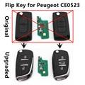 Atualizados Car Remoto Virar Chave 433 MHz ID46 chip para PEUGEOT 107 207 208 307 308 SW 407 Entrada Keyless controlador (CE0523 PERGUNTAR)