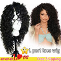 Curly Synthetic Lace Front Wig Heat Resistant Japanese Fiber Lace Front Synthetic Wig With Baby Hair Long Curly Synthetic Wig
