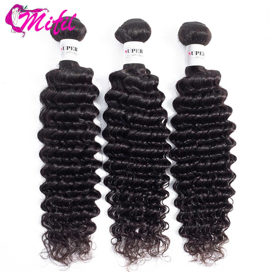 Бразильские волнистые пучки с фронтальной человеческие волосы плетение 3 пучка с фронтальной не Реми Глубокая кружевная Фронтальная застежка с пучками