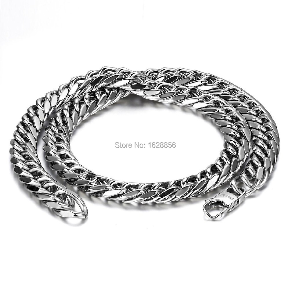 durable 12mm wide heavy large mens stainless steel