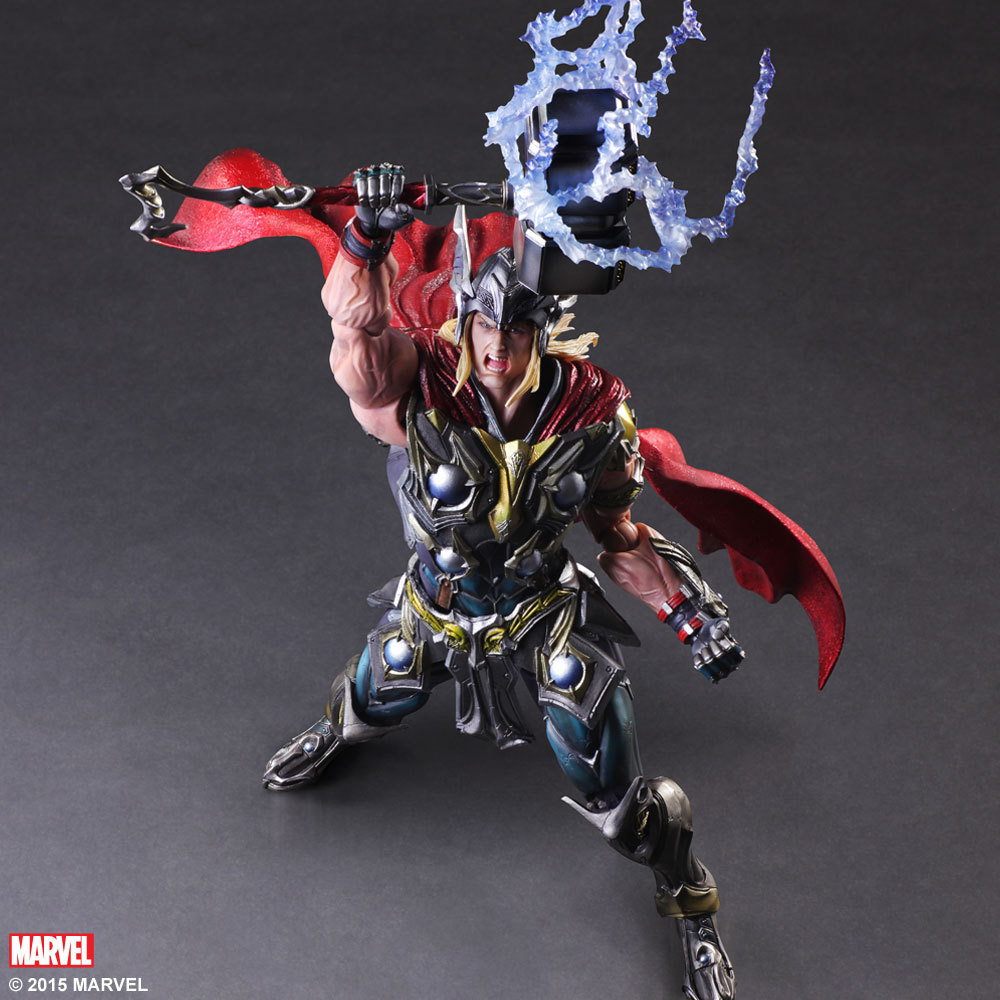 Play Arts 27cm Marvel Thor Super Hero Action Figure Toys super hero marvel lady sif thor hela valkyrja figure bruce banner berserker mandarin red skull building blocks single sale toys