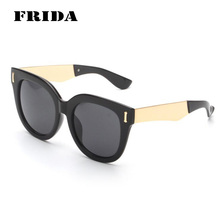 FRIDA 2016 New Brand Designer Metal Leg Retro Round Sunglasses Women Marcas Shades Cool Ladies Sunglasses Gafas de sol hombre