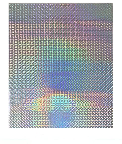 2/10/30/50 Sheets A4 Holographic Grid Rainbow Glossy Iridescent Sticky Adhesive Vinyl Sticker For Scrapbooking Craft Decoration