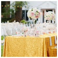 ShinyBeauy 96 X 156 Gold Sequin Table Linen Table Overlay 96inch By 156inch 240cm 390cm For