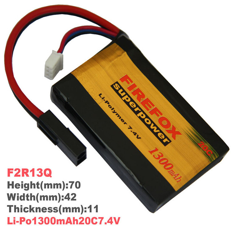 1pcs FireFox 7.4V 1300mAh 20C Li Po AEG Airsoft Battery F2R13Q Drop shipping 1pcs 100% orginal firefox 11 1v 1500mah 15c li po aeg airsoft battery f3l15c drop shipping