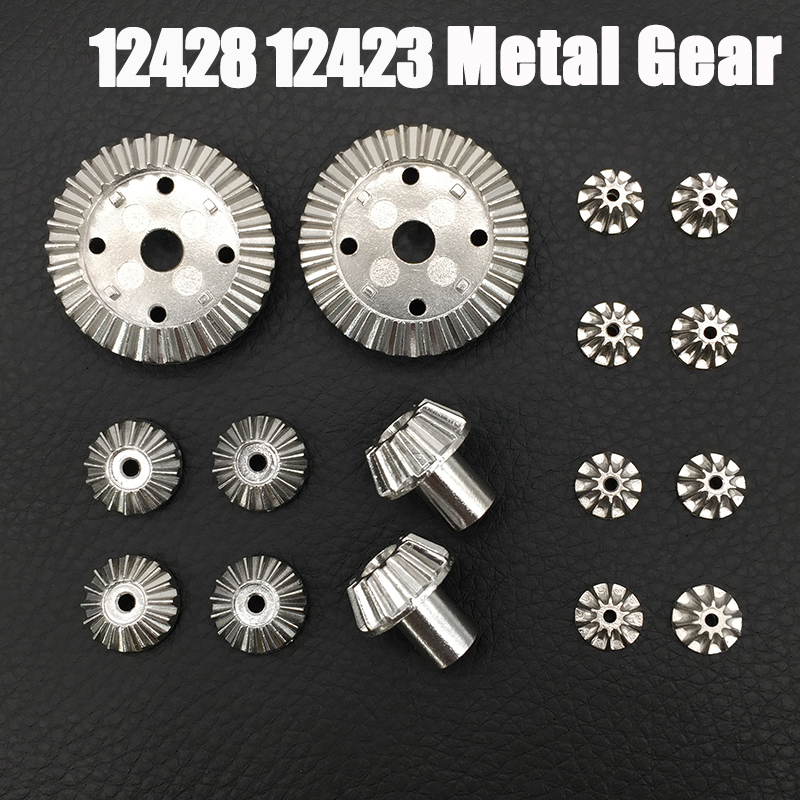 i Drone DIY Parts For Wltoys 12428 12423 Car Metal Parts 16 Pieces 12T/24T/30T Motor Driving Gear Differential Gear Accessories wltoys 12428 12423 1 12 rc car spare parts 12428 0091 12428 0133 front rear diff gear differential gear complete