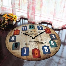 Alfombra redonda, reloj Retro, alfombras suaves impresas para sala de estar, alfombra antideslizante, alfombrilla para suelo y silla de ordenador para decoración del hogar, habitación de niños