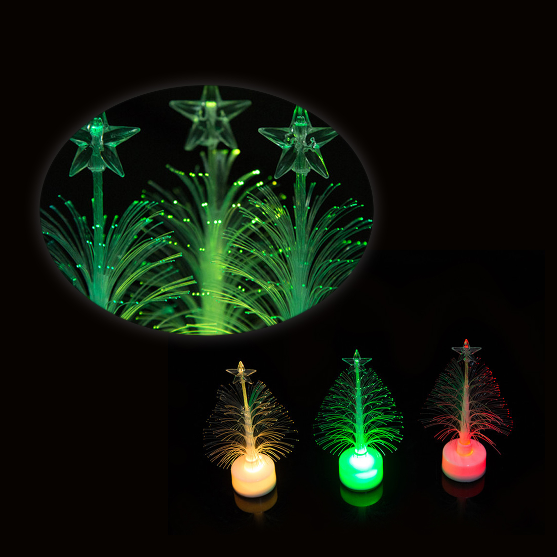 1pcs High Quality Lamp Light Night Home Decorations Led Desk Decor Small Christmas Tree Colorful