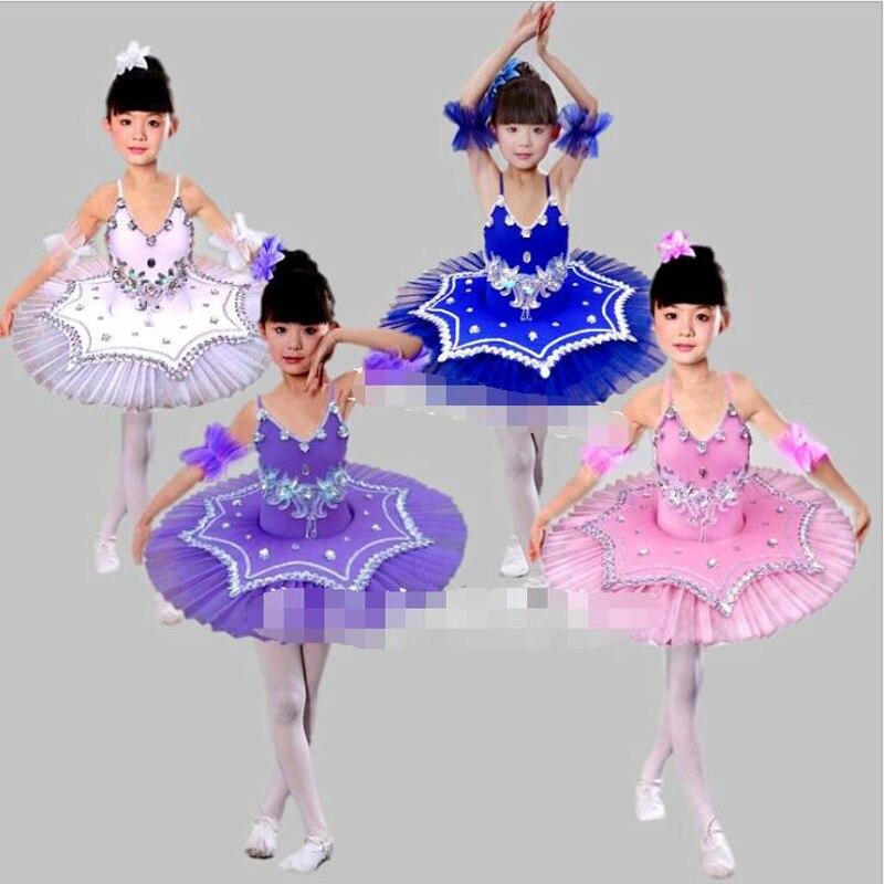 Girls White Swan Lake Ballet Princess Dance Dress Costume 90cm-165 Kids Tutu Leotard Ballet Dance Costume Ballroom Dacing Dress