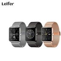 Leifer 2017 Z50 חדשים Bluetooth smartwatch שעון חכם ה-SIM תמיכה כרטיס TF mp4 mp3 תואם לאייפון 6 6 sIOS אנדרואיד טלפונים