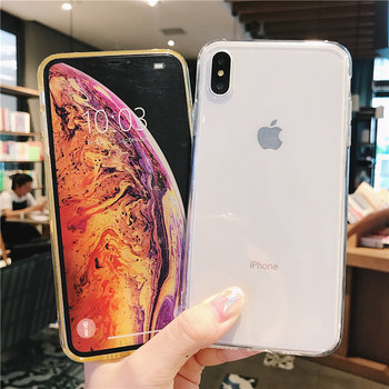 iPhone 7 Phone Case Clear Solid Candy Color For iPhone 11 Pro XS Max 6 6s 7 8 Plus X XR Soft TPU Silicone Back Cover 1