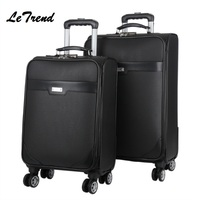 New Suitcase On Wheel High Quality Travel Luggage Hand Trolley Men Boarding Suitcase Large Capacity Travel Rolling Luggage