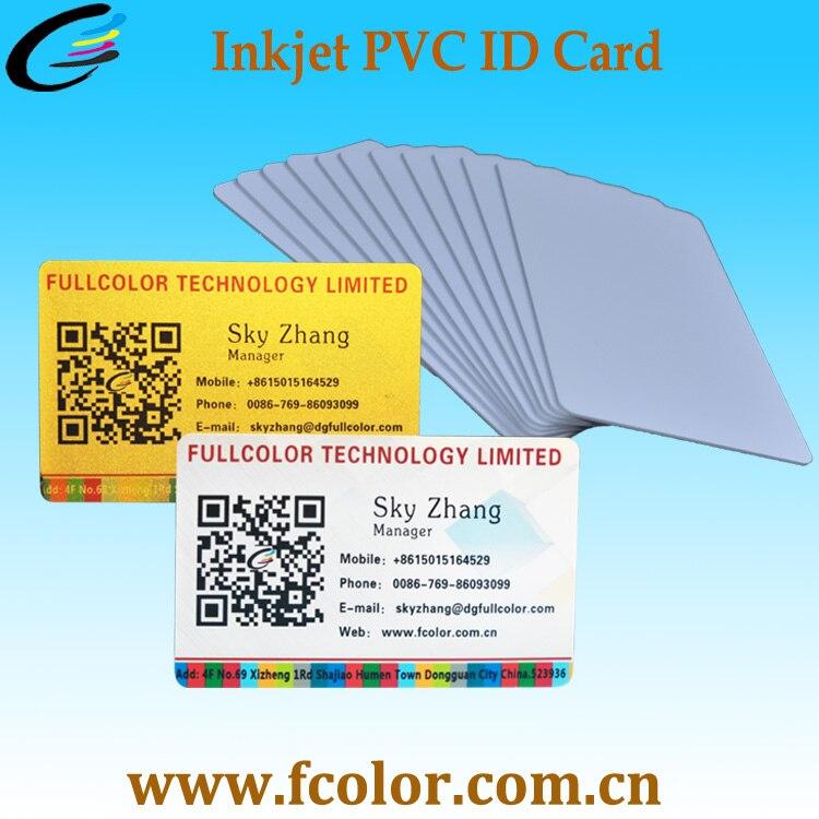 Jet d'encre Impression PVC Carte D'IDENTITÉ pour imprimantes à jet d'encre 230 pièces boîte