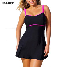 2017 Swimwear Plus Size Swimwear Large Size Women Plus Size Swimsuit Dress Skirt 6XL 4XL 5XL Swim Dress Swimwear For Women
