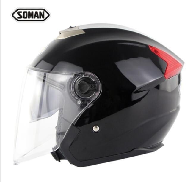 SOMAN 517 мотоцикл электрический автомобиль двойной объектив шлем половина шлем четыре сезона универсальный унисекс - Цвет: 1