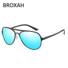 Retro Sport Goggles Men Brand Polarized Sunglasses Aluminium Magnesium Driving Glasses Women Shades UV400 Gafas De Sol Hombre цена и фото