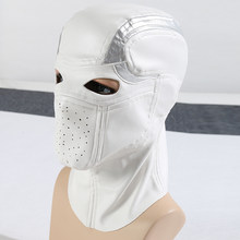 [STOCK] FILM Suicide Squad PU membuat Masker Deadshot Cosplay Headwear Halloween Carnival Party Unisex BARU 2018 kapal gratis(China)