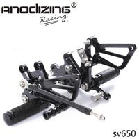 Full CNC Aluminum Motorcycle Adjustable Rear Sets Foot Pegs For Suzuki GSXR 600/750 1997 2005 GSXR1000 2001 2004 SV650 /S