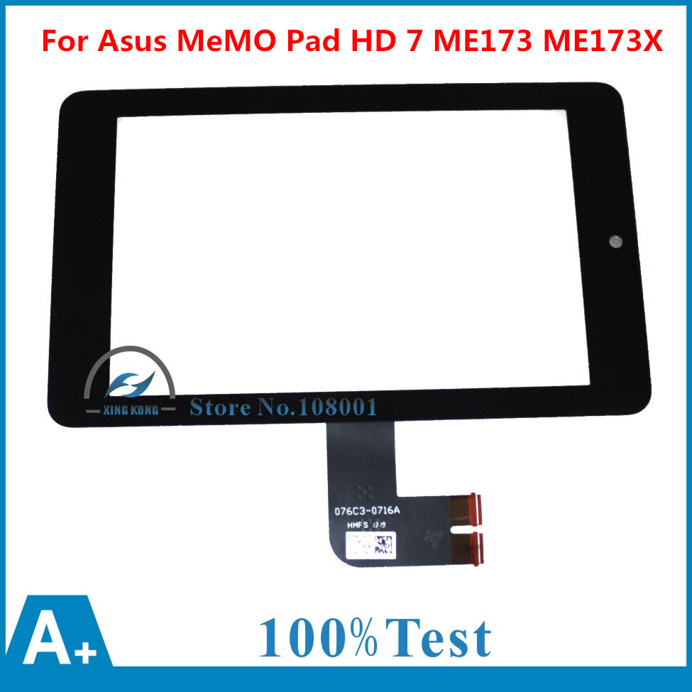 Free Shipping new 7 Inch Black Touch Screen With Digitizer Replacment For Asus MeMO Pad HD 7 ME173 ME173X K00B K00U 7 inch for asus me173x me173 lcd display touch screen with digitizer assembly complete free shipping