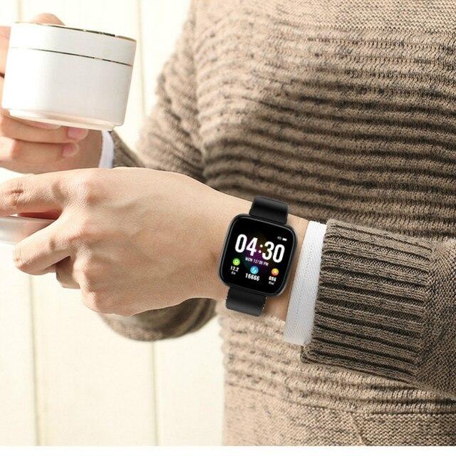 Relógio inteligente pulseira de medição pressão arterial à prova dwaterproof água banda de fitness freqüência cardíaca rastreador moda esporte