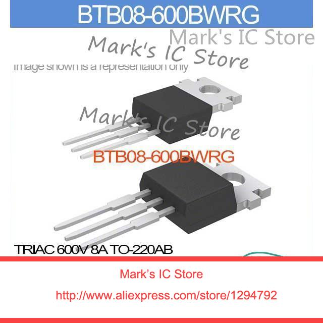 BTB08-600BW Triac 8A 600V TO220AB NEW 1 pc.