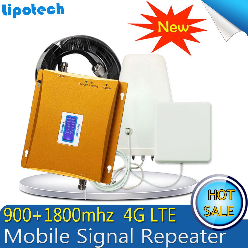 1 компл. 65db усиления GSM 900 4 г LTE 1800 (FDD группа 3) сотовая связь мобильный ретранслятор сигнала GSM 900 DCS 1800 мГц двухдиапазонный усилитель repetidor