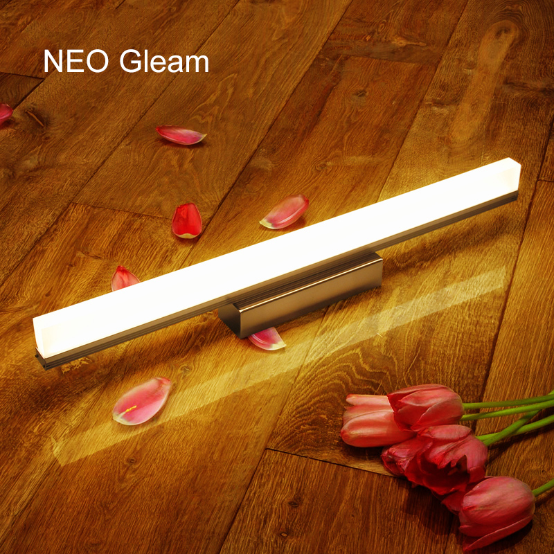 NEO Gleam Modern 9W-20W L390-L890mm LED Mirror Front Light Bathroom Wall Lamp Wall Mounted LED Bathroom Mirror Wall Light Lamp neo gleam mirror light led bathroom wall lamp mirror glass waterproof anti fog brief modern stainless steel cabinet led light