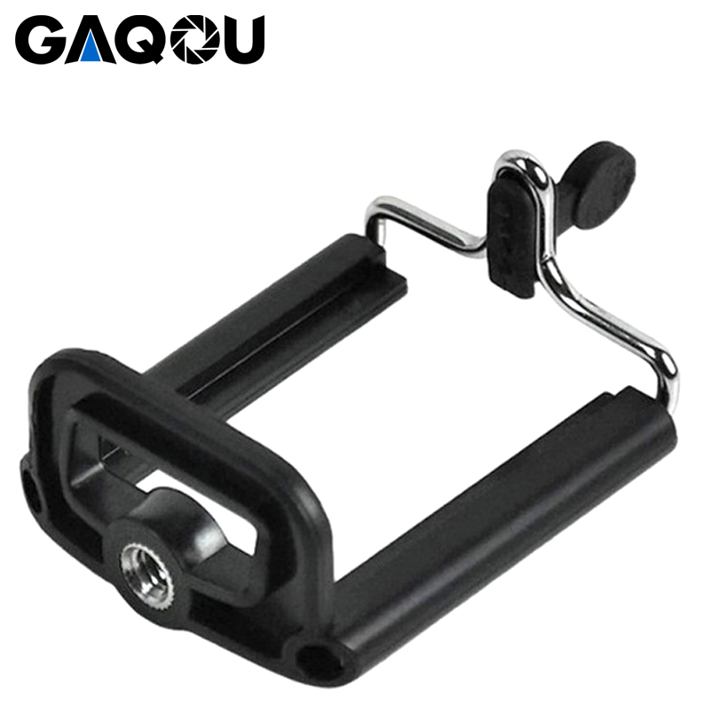 GAQOU Flexible Tripod Holder Clip Mobile Phone Accessories For IPhone Nokia Lumia With 1/4 Standard Screw Hole Selfie Stick