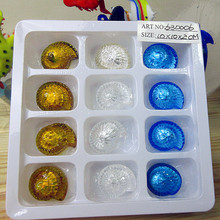 24pcs Custom Munuola hand blown multi color glass dice Figurine decorations Home Furnishing creative gambling game
