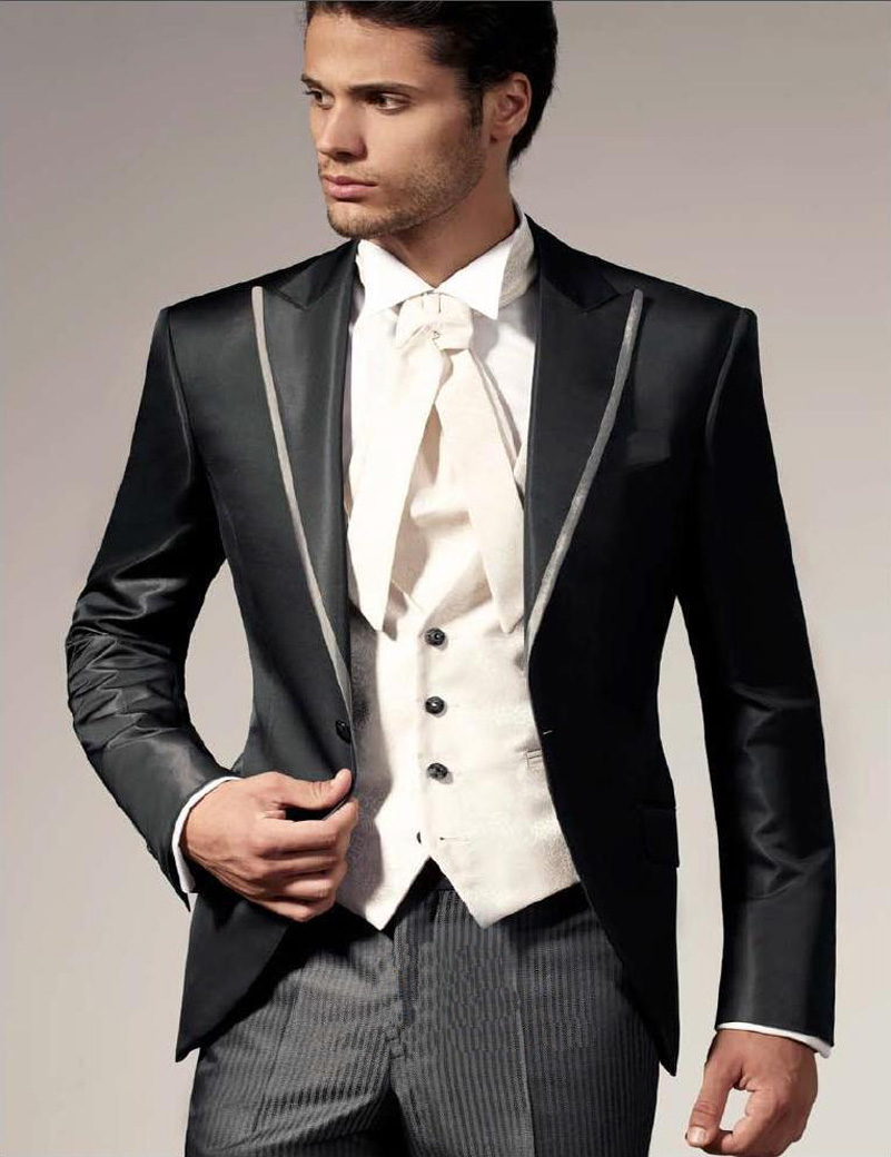 2018 Italian Wedding Suits For Men Jacket+Pant +Vest Prom Suits ...