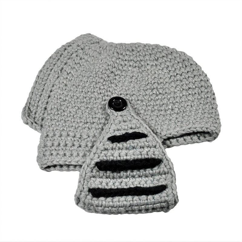 dad1393a681 Roman Knight Knit Helmet Men s Caps halloween hat cosplay costumes hat  Funny Beanies-in Skullies   Beanies from Apparel Accessories on  Aliexpress.com ...