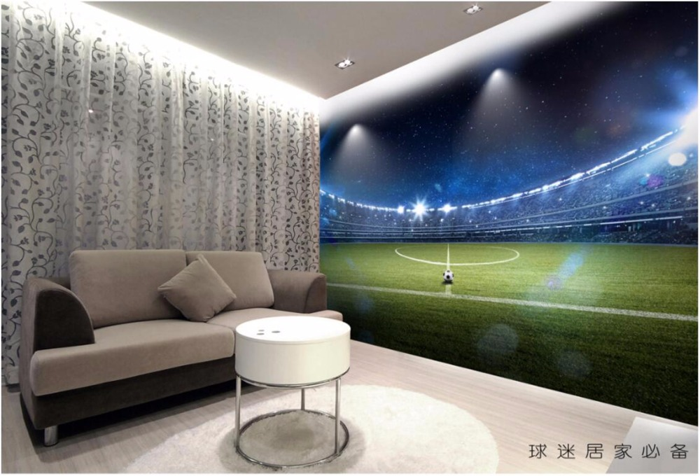3d room wallpaper custom mural Hd giant football field painting home