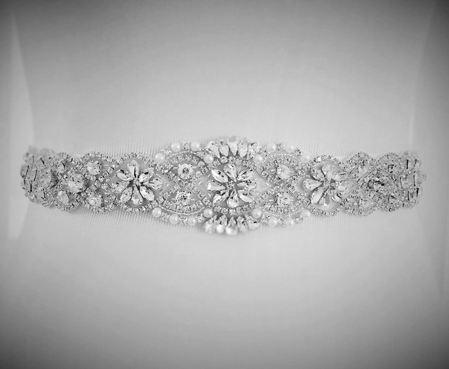 Hot Selling Ribbon Sash Belt for Wedding Dress Waistband Handmade Bridal Blets With Beadings Dazzling Glass Crystal Rhinestones