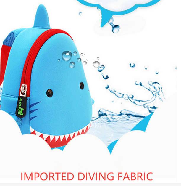 ... Animals Kindergarten Baby Bags 3D Shark Backpack Kids Waterproof  Children School Bags For Girls Boys Cute