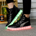 2017 New Led Light Shoes Men Casual Breathable Luminous Tenis Con Luz Schoenen Met Licht Glowing Zapatillas Con Luces Usb Shoe