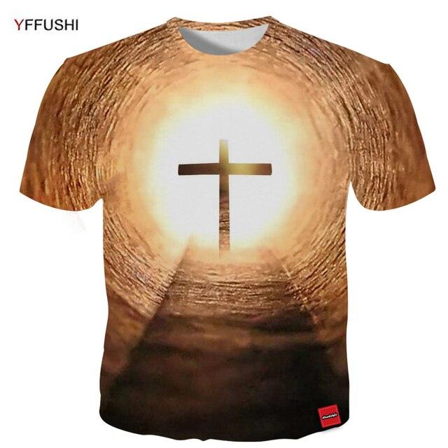 b5d28f470 YFFUSHI 2018 Male Plus Size 5XL 3D T-Shirts Fashion Hip Hop Festval t-shirt  Cross 3D Print O-Neck Easter Tops Tees Streetwear
