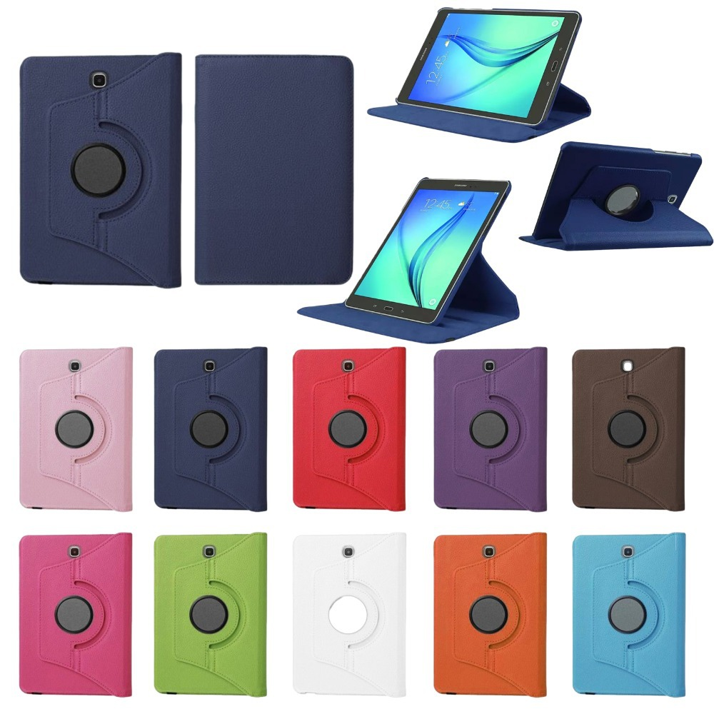 pu leather 360 rotating smart cover folio stand tablet. Black Bedroom Furniture Sets. Home Design Ideas
