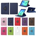 "PU Leather 360 Rotating Smart Cover Folio Stand Tablet Case Cover For Samsung Galaxy Tab S2 8.0"" SM-T710 T715 w/Stylus Pen"