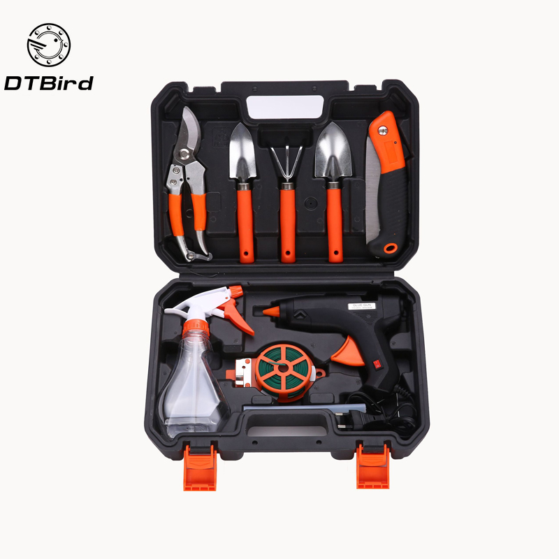 Hardware Toolbox Gardening Tools Combination Set Electric Heater Kit Garden Flower Tools gardening tools potted flowers flower cultivation gadget spades and hoes for gardening vegetables