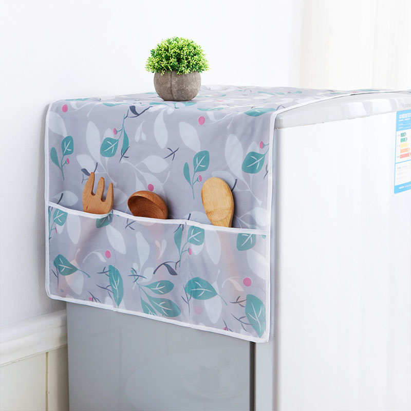 130*55cm Kitchen Supplies Dust Covers Waterproof Refrigerator Organizer Refrigerator Cover Storage Bag PEVA Freezer Top Bags image